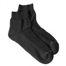 Bamboo ankle sponge socks black