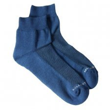 Bamboo ankle sponge socks blue