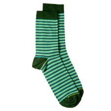 Bamboo midcalf socks blue-green stripes
