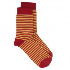 Bamboo MidCalf Socks red/pink/yellow striped