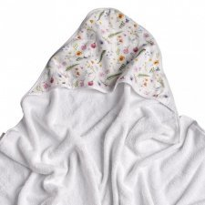 Bamboo Summer Meadow terry towel with hood