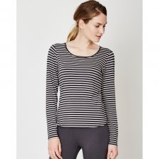 Bamboo striped basic long sleeve tee