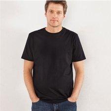 Basic man black t-shirt in organic cotton