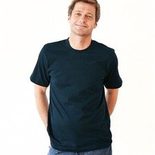 Basic man blue navy t-shirt in organic cotton