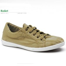 Basket summer shoes in organic cotton canvas