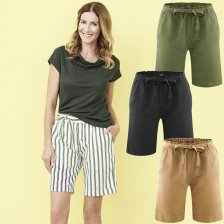 Gaby Woman Bermuda in Linen and Organic Cotton