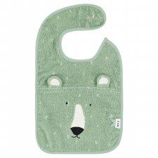 Bavaglino Signor Orso Polare in spugna di cotone biologico
