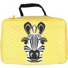 Borsetta Beauty case Zebra in cotone biologico
