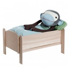 Bed kit in wood for cuddly toys
