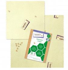 beeskin 2 pz M+L pellicole alimentari in cotone bio e cera d'api