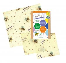 beeskin Kids 3 pz - pellicole alimentari in cotone bio e cera d'api