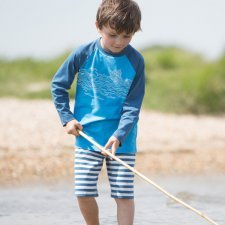 Bermuda nautical shorts boy in organic cotton