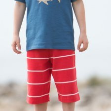 Bermuda shorts red boy in organic cotton