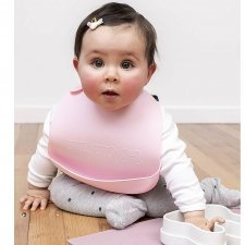 Bibs catchies in silicone - 2 pcs Dusty Rose/Powder Pink