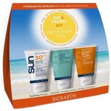 Bioearth Sun&Travel Kit Crema solare SPF30 + crema doposole + shampoo doccia