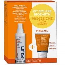 Bioearth Sun Kit Crema solare spray SPF50 + shampoo doccia omaggio