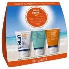 Bioearth Sun&Travel Kit Crema solare SPF50 + crema doposole + shampoo doccia