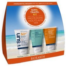 Bioearth Kit Sun Body Cream wr SPF50 + aftersun milk + shower shampoo gel