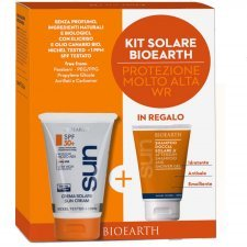 Bioearth Kit Sun Body Cream WR SPF50+ and shower shampoo gel