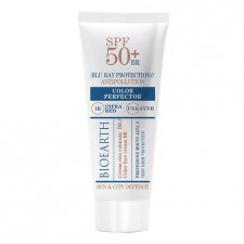 Bioearth Sun&City Crema Viso Colorata Blue Ray Antipollution SPF50