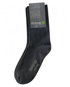 Black Socks in hemp and organic cotton