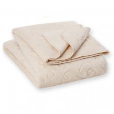 Blanket Arabic in natural organic cotton fleece 150x200