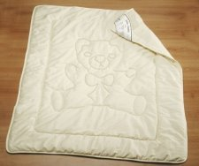 Blanket for cot in organic cotton and wool