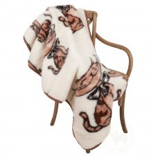 Blanket in merinos wool for cot