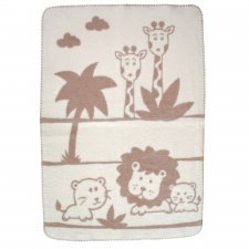 Blanket Lio in organic cotton fleece 75x100