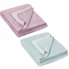 Blanket Melange in organic cotton fleece 100x150