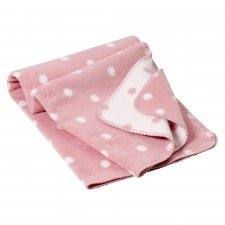 Blanket Punkte in natural organic cotton fleece 150x200