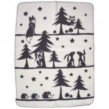 Blanket Wood in organic cotton fleece 75x100