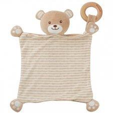 Bear blankie in organic cotton