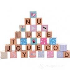 Blocchi Alfabeto in legno ecologico - 30 pezzi