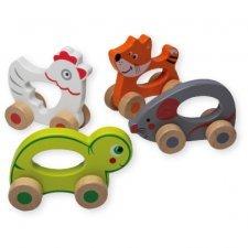 Animali su ruote in legno ecologico