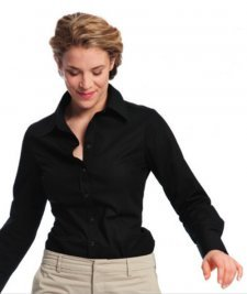 Blouse woman long sleeve in organic cotton
