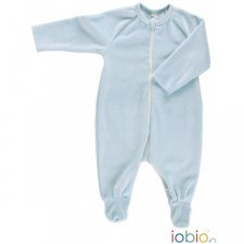 Blue babysuit in organic cotton chenille Popolini