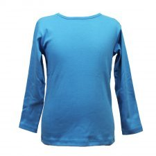 Blue organic cotton long sleeve shirt