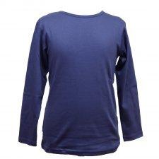 Navy organic cotton long sleeve shirt