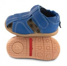 Blue toddler sandal with flexi sole in rubber