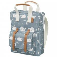 Blue whale backpack for children Kindergarten in R-Pet