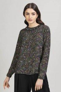 Blusa BULÈ con stampa floreale in viscosa, moda etica e sostenibile