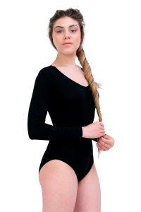 Body donna manica lunga in Modal e Cotone