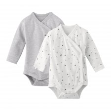 Body Kimono Little Star manica lunga in cotone bio 2 pezzi
