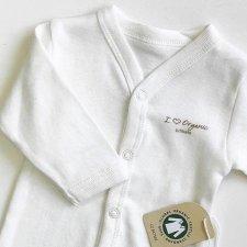Body Neonato manica lunga bianco in cotone biologico