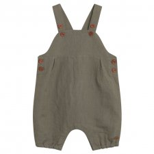 Baby dungarees in linen and cotton
