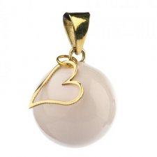 Bola Essentials bianco con cuore per le mamme in attesa