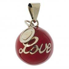 """Bola rosso """"Love"""""""