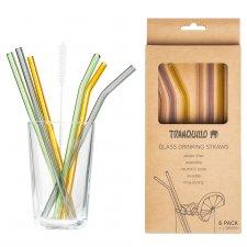 Borosilicate glass straws set of 6 pieces