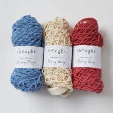 Borsa a rete in cotone biologico con maniglie lunghe
